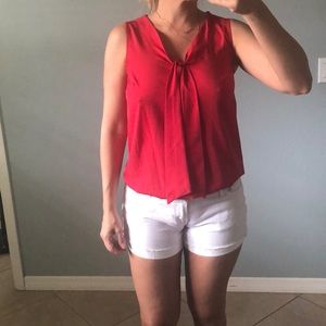 Banana Republic red tie knot top